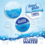 WATER. Stickers a badges for sell water stock illustration
