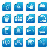 Water stickers stock illustration