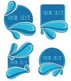 Water stickers Royalty Free Stock Photography