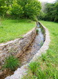Water stone canal outdoors Stock Image
