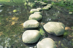 Water stone way Royalty Free Stock Photography