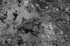 Water and stones. Black and white texture of water and stones Stock Photo