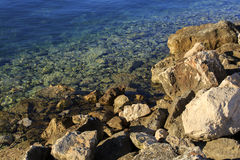 Water and stones. Sea water and stones Stock Photo