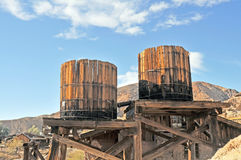 Water Storage Barrels Stock Photo