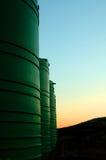 Water storage tank. Four water storage tank in a row Royalty Free Stock Photos