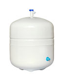 Water storage tank. For water filtration RO (reverse osmosis) system Royalty Free Stock Photography