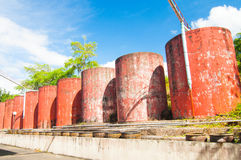 Water storage tank. Use for collect rain water Royalty Free Stock Photo