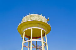 Water storage tank. Water storage tower from low angle Royalty Free Stock Image