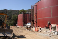Water Storage Tanks Stock Image