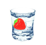 Water and strawberry Stock Image
