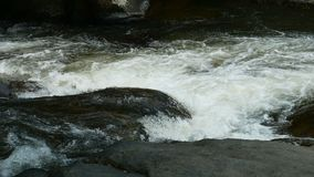 Water stream flowing on rock.  stock footage