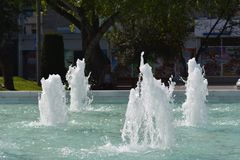 Water stream, fountain Royalty Free Stock Photos