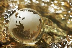 Water  stream, globe, ecology Royalty Free Stock Photography