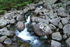 Water Stream in Mountains Stock Photography