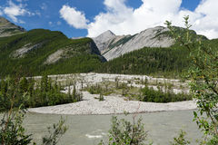 Water stream and mountains Stock Image