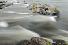 Water stream, Potomac river Royalty Free Stock Photo