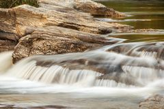 Water stream running over the rocks Royalty Free Stock Images
