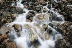 Water stream. Running over rocks in nature Royalty Free Stock Image