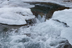 Water stream under ice Royalty Free Stock Photography
