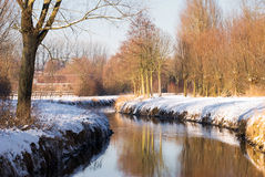 Water stream in winter landscape Royalty Free Stock Photos