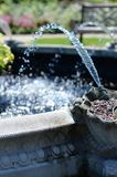 Water Streaming from Fountain in the English Garden. In Assiniboine Park, Winnipeg, Manitpba royalty free stock photo