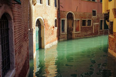 Water street canal in Venice italy.JPG. Water street canal and old building in Venice italy.JPG royalty free stock photo