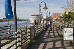 Water Street in Downtown Wilmington, NC Royalty Free Stock Images