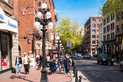 Water Street in historic district Gastown, Vancouver Stock Photo