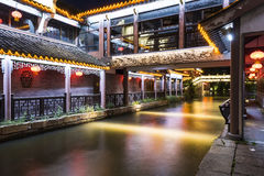Water street night scene Stock Photography