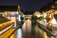 Water street night scene Stock Photo