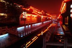 Water street night Stock Image