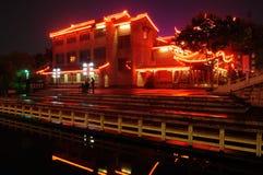 Water street night Stock Photos