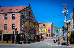 Water Street, St Johns, Newfoundland Royalty Free Stock Photos