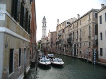 Water street in Venice. Italy Stock Images
