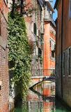 Water street in Venice Royalty Free Stock Photo