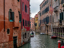 Small canal in Venice, Italy. Royalty Free Stock Photos