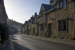 Water street view in historic Castle Combe Stock Photo
