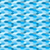 Water style flat seamless pattern Stock Photography