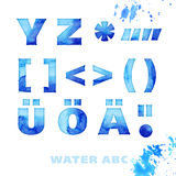 Water style lettering set Royalty Free Stock Images