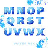 Water style lettering set Royalty Free Stock Photo