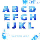 Water style lettering set Stock Images