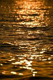 Water sunset Stock Photography