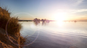 Water sunset background Royalty Free Stock Photo