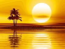 Water sunset stock illustration