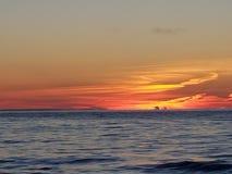 Water sunsets in openlucht aard het kamperen kajak royalty-vrije stock fotografie