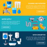 Water Supply Banners Stock Photos