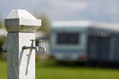 Water supply at camping site Stock Photos