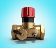 The water supply Crane valve manual 3d render on gradient Stock Photography