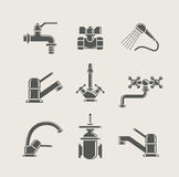 Water-supply faucet mixer, tap, valve for water