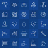 Water supply line icons Royalty Free Stock Image